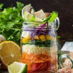 Couscous Salat mit frischem Gemüse