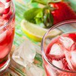 Getränke mit Erdbeeren, ungesüßt