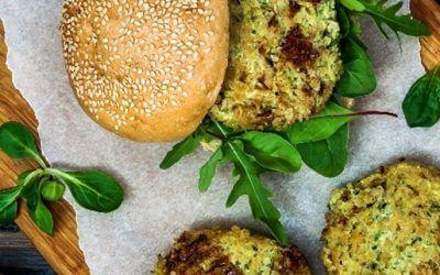Vegetarischer Couscous Crunchy Burger