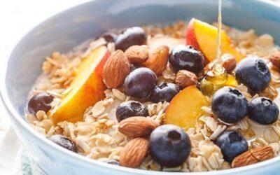 Orangen-Pfirsich-Porridge