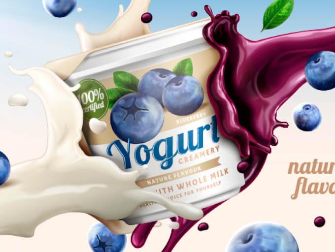 Joghurt-Werbung