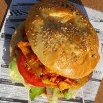 Selbstgemachter mexikanischer Burger Streetfood