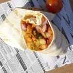 Mexikanischer Burrito Streetfood