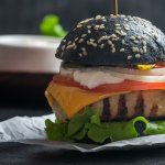 Black Food Burger