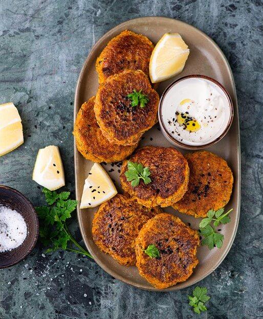Karotten-Mandel-Patty