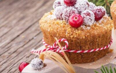 Kokos-Cranberry Muffins