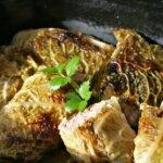 Kohlrouladen in der Ofenform