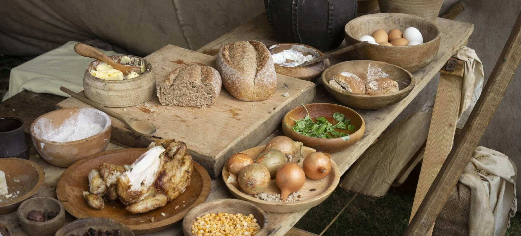 mittelalterliche Mahlzeit